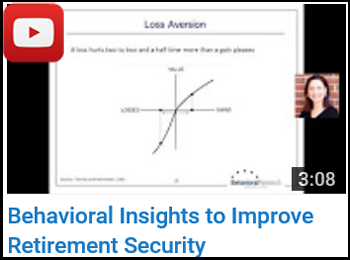 Behavioral Insights to Improve Retirement Security - Jodi DiCenzo, CFA, CPA - YouTube clip