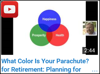 What Color Is Your Parachute? for Retirement: Planning for Prosperity, Health and Happiness - John Nelson - YouTube clip