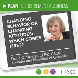 Changing Behavior or Changing Attitudes - Diane Savage