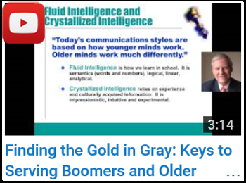Finding the Gold in Gray: Keys to Serving Boomers and Older Clients - Michael Sullivan - YouTube clip