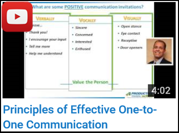 Principles of Effective One-to-One Communication - Joe Tabers - YouTube clip