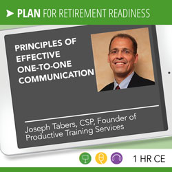 Principles of Effective One-to-One Communication - Joseph Tabers