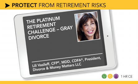 The Platinum Retirement Challenge – Gray Divorce - Lili Vasileff