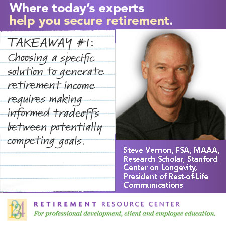 Takeaway #1: Key tradeoffs involved in retirement planning